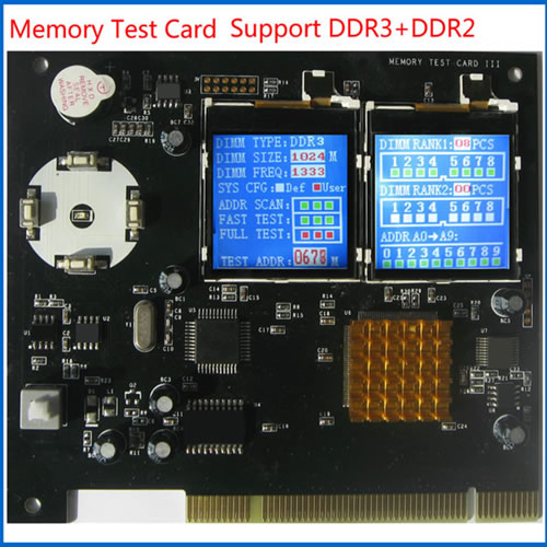 Computer Post: PC DDR2 DDR3 Memory Test Card For Repair Desktop And